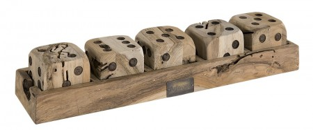 Artwood Dice game on tray - utsolgt