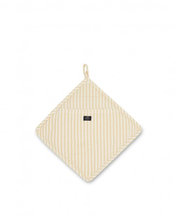 Lexington Gryteklut Icons Cotton Herringbone Striped Potholder gul/hvit