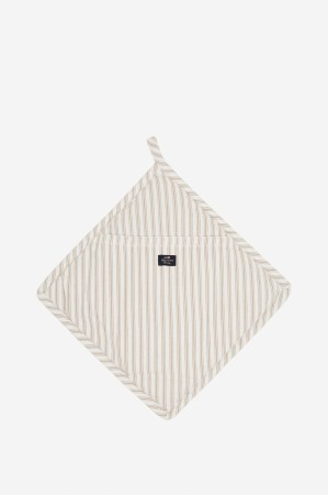 Lexington Gryteklut Icons Cotton Herringbone Striped Potholder beige/hvit